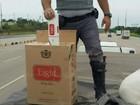 Polícia apreende 500 mil maços de cigarro em veículo na Castello Branco