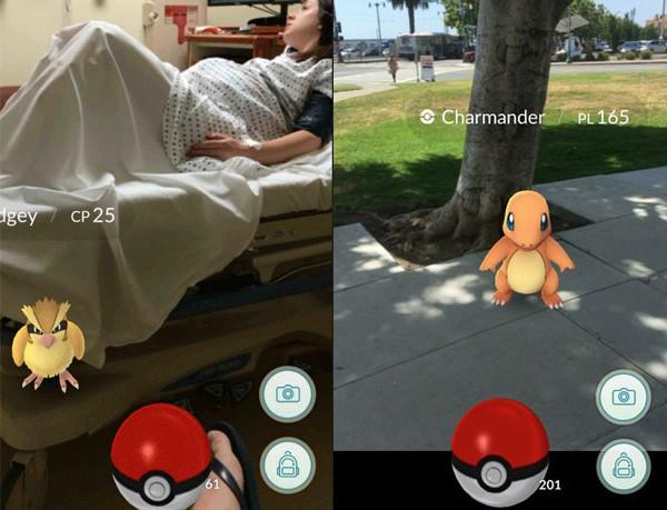 Marido posta foto 'caçando' Pokémon enquanto mulher espera para ter bebê (Foto: Reprodução/Reddit)
