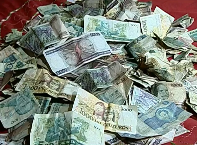 Dinheiro antigo, Brasil (Foto: Reprodução/TV Globo)