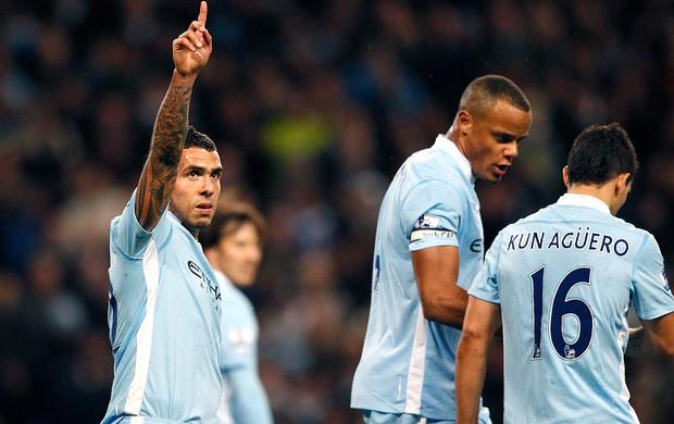 Tevez - Manchester City x West Bromwich (Foto: Agência Reuters)
