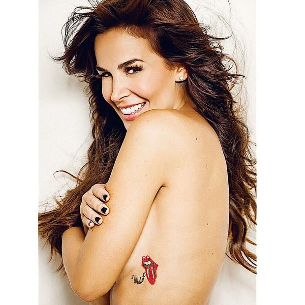 Robertha Portella mostra nova tatuagem (Foto: Instagram/Reprodução/Sergio Baía)