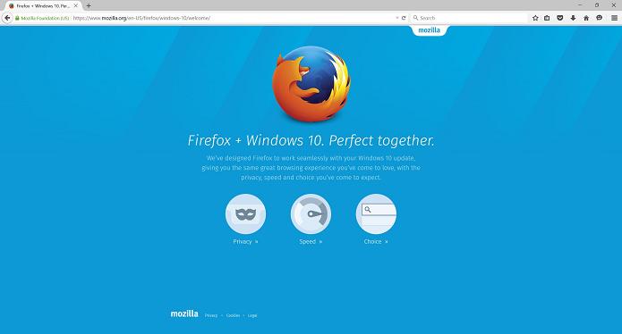 Firefox ganhou versão com melhorias para o Windows 10 (Foto: Divulgação/Mozilla)