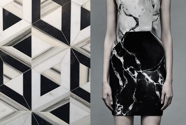 Isabela Giobbi: a elegância do mármore em preto e branco (Foto: Reprodução)