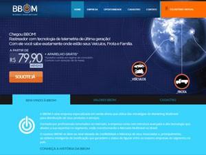 Página da BBom, que teve bens bloqueados pela Justiça (Foto: Reprodução)