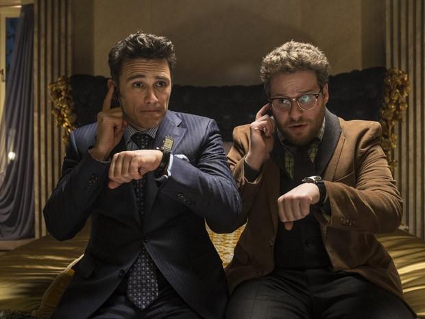Cena do filme 'A entrevista', com James Franco e Seth Rogen (Foto: Divulgação)