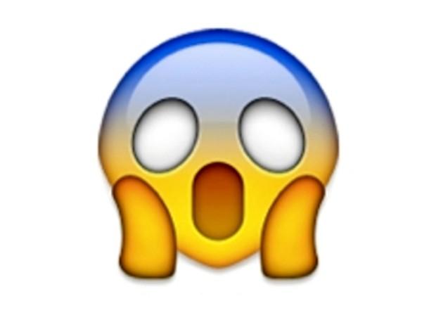 Emoji retrata situação assustadora (Foto: Reprodução / Whatsapp)