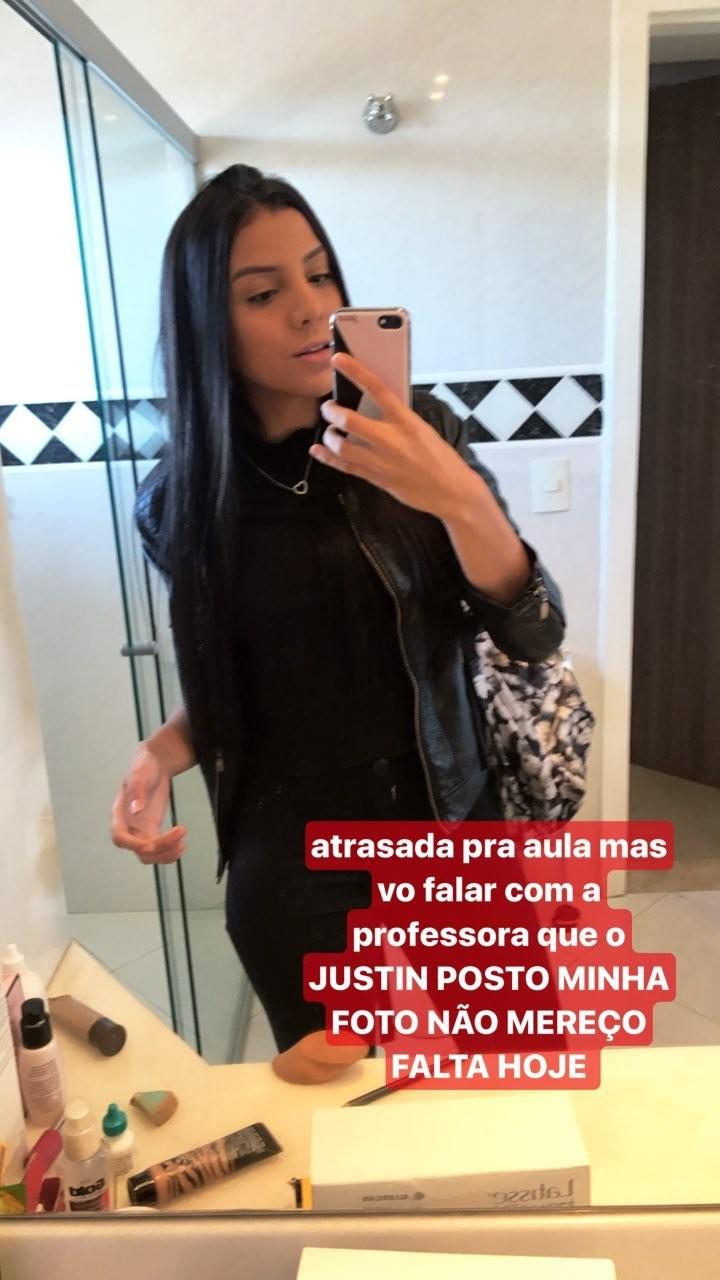 Brasileira Danielle Diz teve foto publicada em perfil de Justin Bieber (Foto: Reprodução/Instagram)