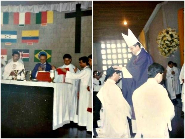 Antônio Henrique Fonseca Romero durante sacerdócio em Itacoatiara (AM) (Foto: Arquivo Pessoal)