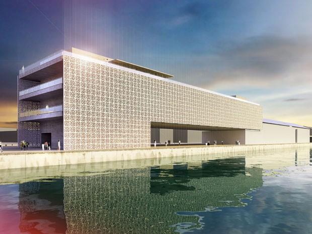 Projeto do Cais do Sertão Luiz Gonzaga, museu que será inaugurado no porto do Recife (Foto: Divulgação)