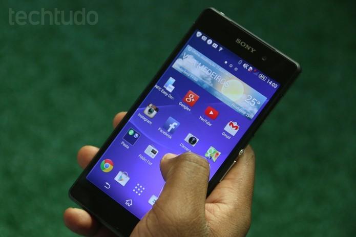 Xperia Z2: smartphone da Sony provavelmente não terá outras atualizações (Luciana Maline/TechTudo)