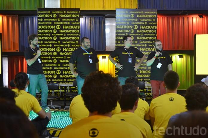 Felipe Andreoli apresenta o Hackahton Globo; são 50 participantes selecionados (Foto: Melissa Cruz / TechTudo)