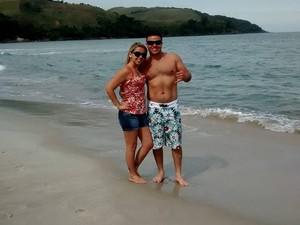 Lais passou a frequentar mais a praia após conhecer Ricardo (Foto: Arquivo Pessoal)