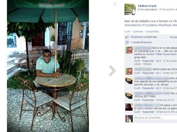 Cleiton Frack (Foto: Reprodução Facebook)