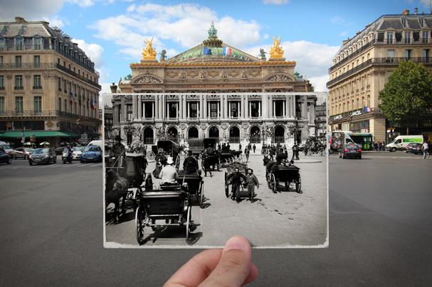 Place de l'Opéra, 1900 (Foto: JULIEN KNEZ / LÉON ET LÉVY / ROGER-VIOLLET)