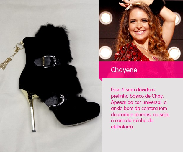 Podemos chamar essa ankle boot de pretinha básica de Chay.  (Foto: Cheias de Charme / TV Globo)