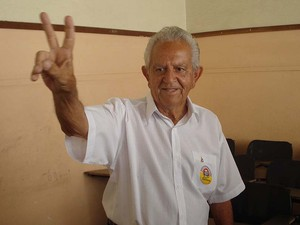 Galileu Machado votou na Escola Estadual Joaquim Nabuco (Foto: Cleber Corrêa/G1)