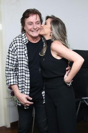 Fábio Jr. e a namorada, Fernanda Pascucci, em show em São Paulo (Foto: Manuela Scarpa/ Brazil News)