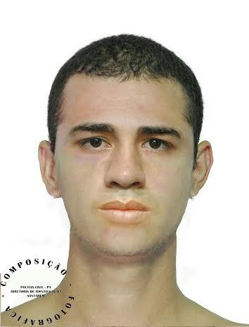 Retrato falado do suspeito (Foto: Divulgação/Polícia Civil e DEM)