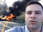Protesto de moradores interdita trecho da BR-101, na Serra, ES