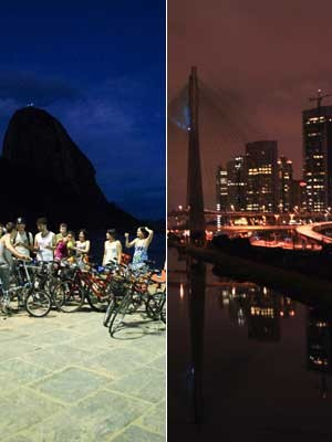 Luzes apagadas no Rio de Janeiro e em São Paulo (Foto: Agência Estado)