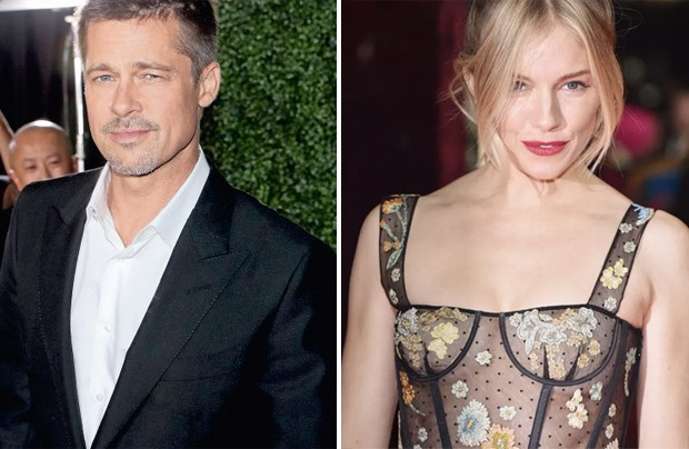 Brad Pitt e Sienna Miller (Foto: Getty Images)