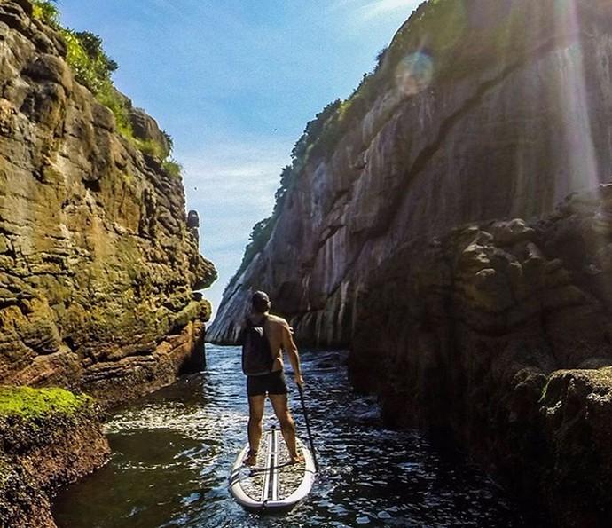 Leandro Hassum pratica stand-up paddle (Foto: Arquivo pessoal)