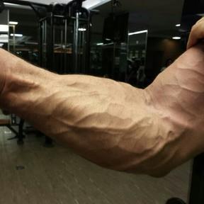 Detalhe do braço do ex-BBB Kadu após malhação (Foto: Instagram/ Reprodução)