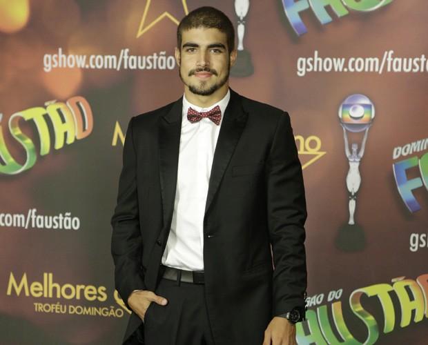 Caio Castro nos bastidores do Melhores do Ano (Foto: TV Globo / Fábio Rocha)