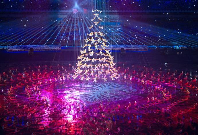 abertura dos Jogos da Juventude na China (Foto: AFP)
