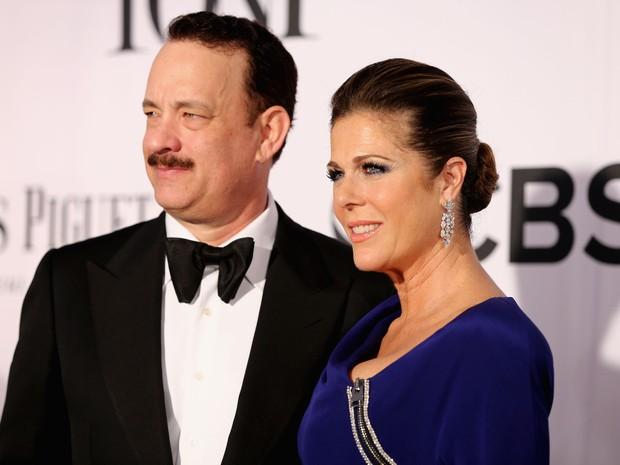 Tom Hanks e Rita Wilson no Tony Awards, em Nova York, nos Estados Unidos (Foto: Neilson Barnard/ Getty Images/ AFP)