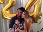 Dani Souza faz festa surpresa de aniversário para Dentinho