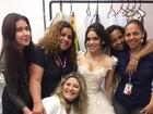Sabrina Petraglia mostra o vestido - lindo!- de Shirlei em 'Haja Coração'