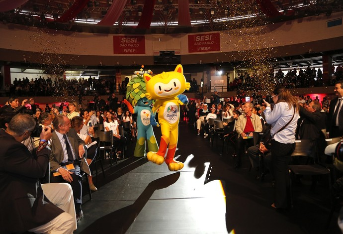 Os mascotes marcaram presença no evento (Foto: Ayrton Vignola/Fiesp)