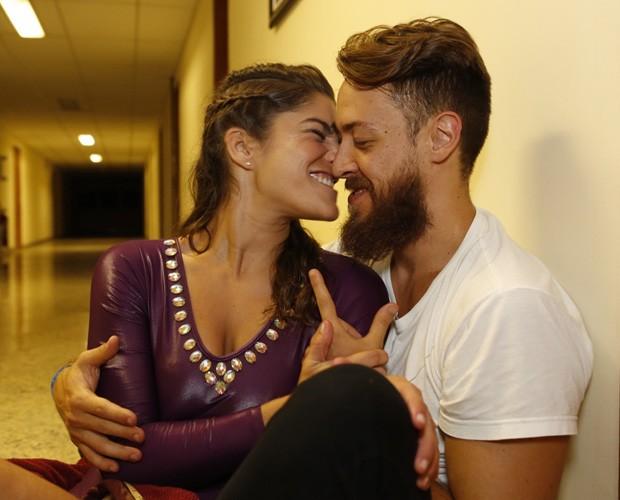 Priscila Fantin celebra boa fase ao lado do marido Renan Abreu  (Foto: Ellen Soares / Gshow)