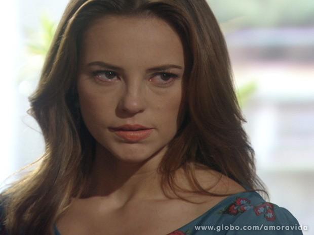 Paloma avisa que vai lutar por Paulinha até o fim (Foto: Amor à Vida/ TV Globo)