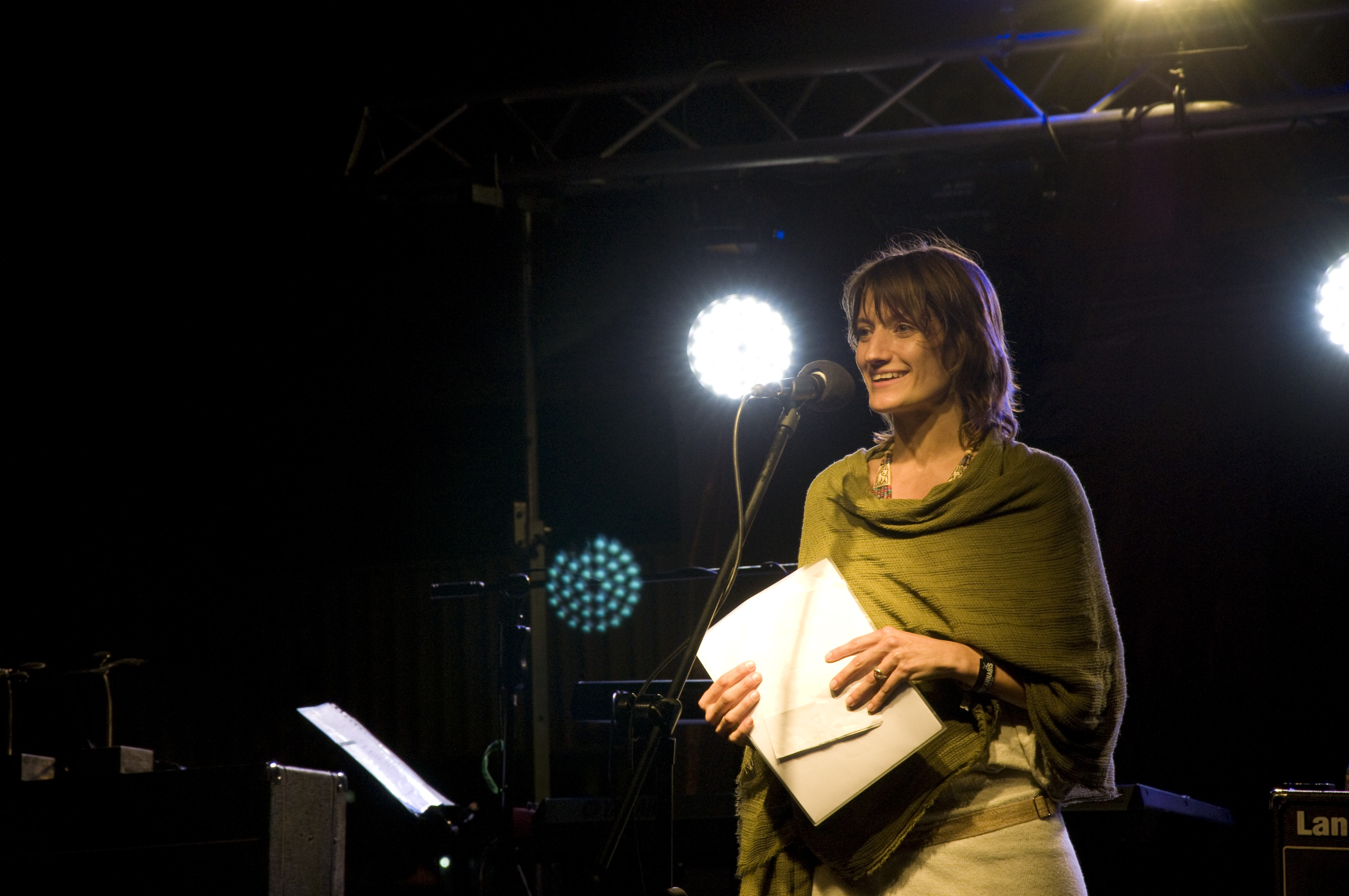 Mercedes Ponce de León durante edição da Expocannabis, no Uruguai (Foto: Divulgação)