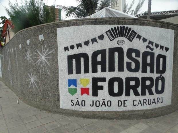 mansao forro sao joao de caruaru (Foto: Lafaete Vaz/G1)