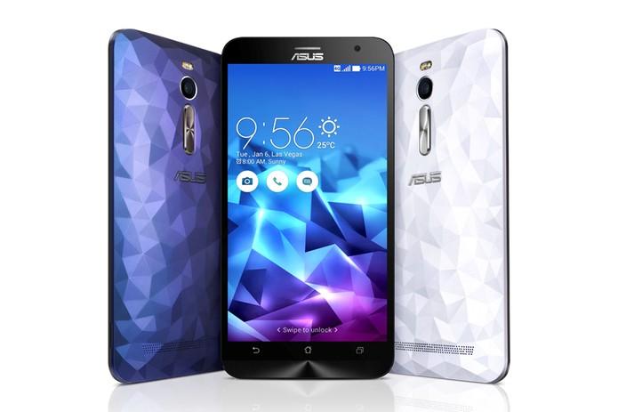 Zenfone 2 Deluxe tem traseira cheia de estilo e memória interna gigante (Foto: Divulgação/Asus)