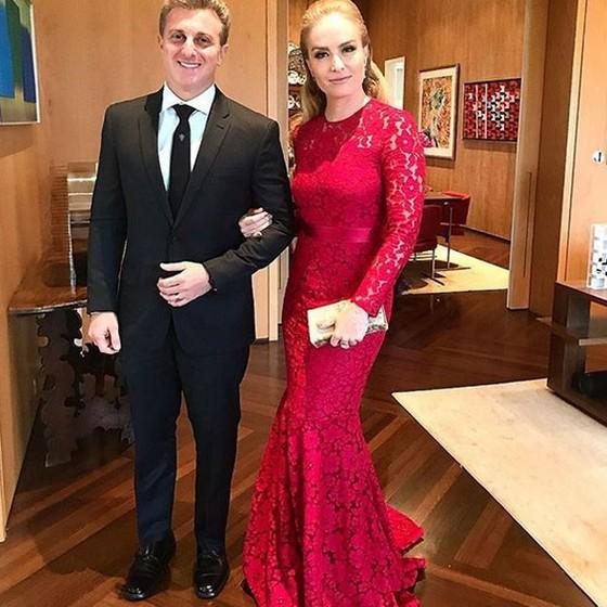 Luciano Huck e Angélica também prestigiaram o casamento (Foto: Reprodução Instagram)