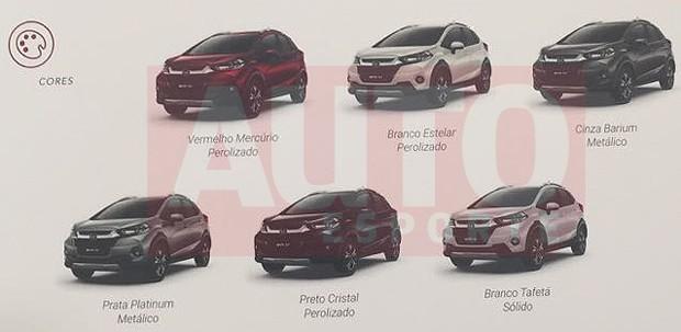 Catálogo revela versões do Honda WR-V (Foto: Reprodução)