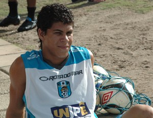 Leandro, meia-atacante do CSP (Foto: Lucas Barros / Globoesporte.com/pb)