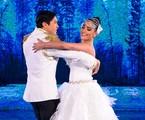 Maria Joana com o bailarino Reginaldo Sama | Ramón Vasconcelos/ TV Globo