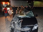 Carro atropela cavalo na BR-230 na Paraba 