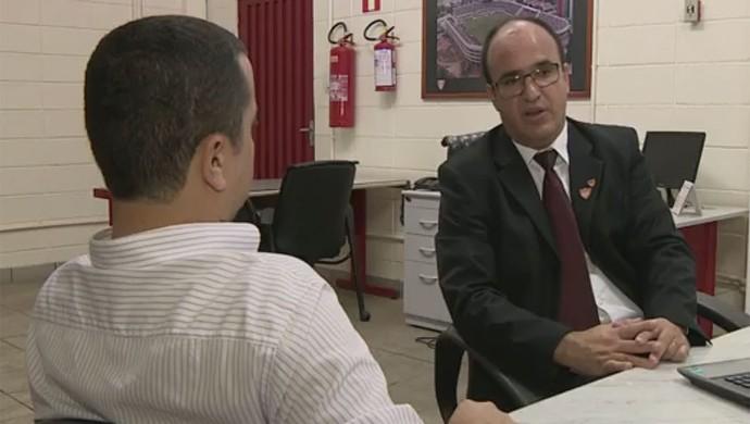 Luiz Henrique de Oliveira Presidente Mogi Mirim Sapo (Foto: Reprodução / EPTV)