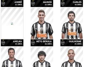 Anelka já está no site oficial do Atlético-MG (Foto: Reprodução / Atlético-MG)