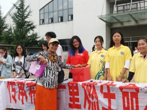Arcelina Helena, de Goiás, participa de atividades de solidariedade na China (Foto: Arquivo Pessoal/Arcelina Helena)
