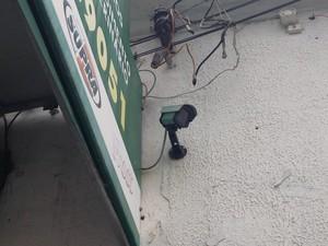 Câmeras de segurança podem ter captado agressão (Foto: Rafaella Fraga/G1)