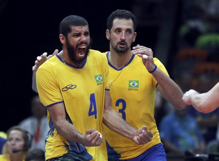 Wallace Brasil x Rússia semifinal vôlei masculino Rio 2016