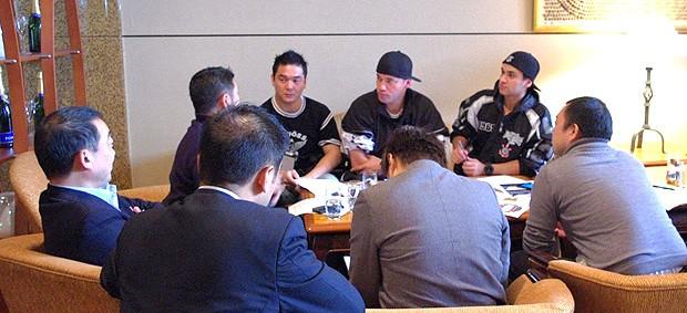Reunião torcida Corinthians hotel no Japão (Foto: Osny Arashiro / Globoesporte.com)