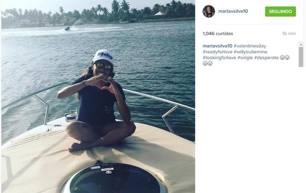 Marta posta no Instagram